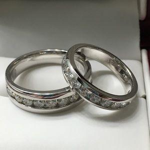 Helzberg Diamond/Platinum Wedding Set